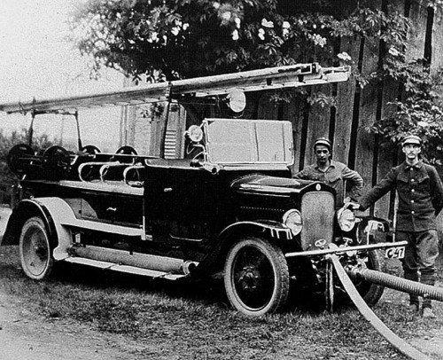 Das Original aus dem Jahr 1926: Der Austro Fiat, das erste Löschfahrzeug der Vorarlberger Feuerwehren in Lustenau. Foto: Feuerwehr