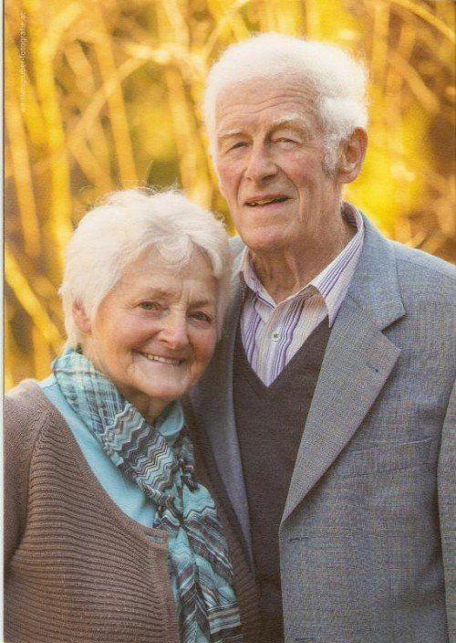 Das Paar wünscht sich noch viele glückliche Jahre in Gesundheit.