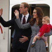 William und Kate auf dem Heimweg