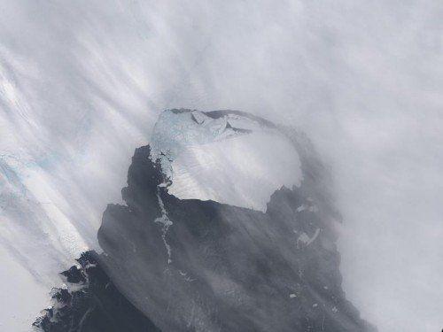 Der Eisberg ist 33 Kilometer lang und 20 Kilometer breit.  Foto: Rts