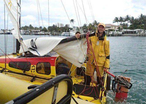 Der Extremsegler Harald Sedlacek überquerte in einem 4,9 Meter kleinen Boot mit nur 1,5 Quadratmetern Lebensraum den Atlantik.  APA