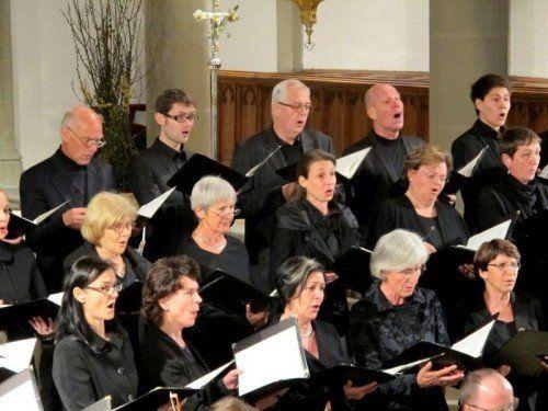 Der Feldkircher Domchor präsentierte weitgehend unbekannte Werke, dafür aber einen großen Programmbogen.  Fotos: JU