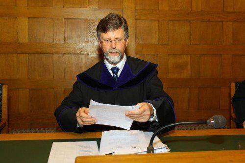 Der Senatsvorsitzende Richter Othmar Kraft.