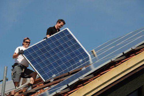Der Anteil der Photovoltaikanlagen liegt noch weit unter den Möglichkeiten.MGL