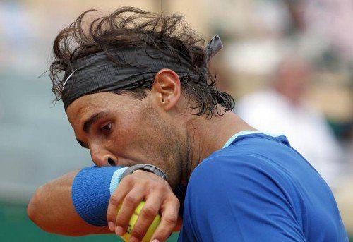 Der Weltranglisten-Erste, der Spanien Rafael Nadal (Bild) kam im Duell mit Landsmann David Ferrer einfach nicht auf Touren. Foto: Reuters