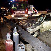 Schwerer Auffahrunfall mit Verletzten auf A 14