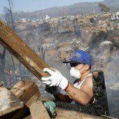 Flammen in Valparaíso eingedämmt – 15 Tote