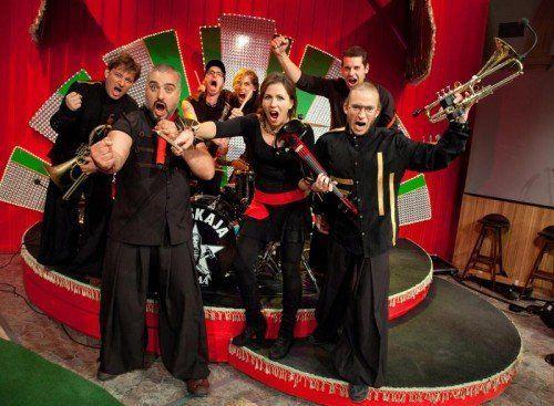 """Die famose Turbopolka-Kombo Russkaja ist durch die Late-Night-Show """"Willkommen Österreich"""" (Grissemann & Stermann) allseits bekannt. foto: soundevent"""