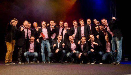Die Handballer des Alpla HC Hard durften sich zum zweiten Mal in Serie als Mannschaft des Jahres feiern lassen.