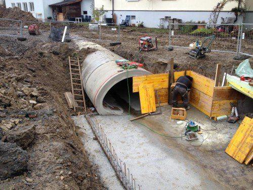 Die Rädler-Superrohre kommen bei der Ippach-Verbauung in Wolfurt erstmals in Vorarlberg zum Einsatz.  Foto: Rädler