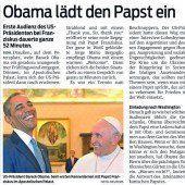Obama beim Papst