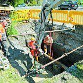 Geborstene Wasserleitung fixiert
