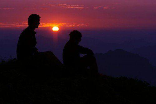 Dieses herrliche Farbenspiel erlebten heute Morgen die Frühaufsteher auf dem Gipfel der 2044 Meter hohen Kanisfluh im Bregenzerwald.