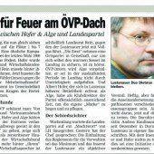Lustenauer ÖVP-Revolte im Bezirk Dornbirn