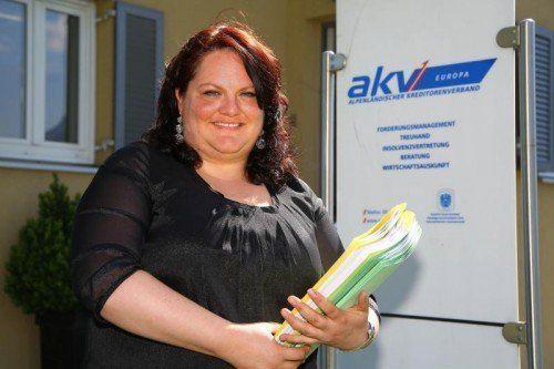 Dr. Katharina Fürweger leitet die Insolvenzabteilung des AKV EUROPA in Feldkirch.  Foto: Hofmeister