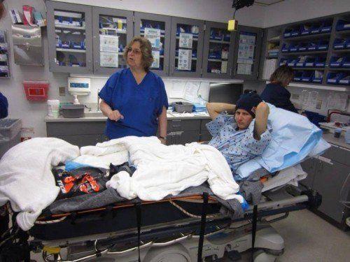 Ein Bild von Nadine Wallner aus der Klinik in Nordamerika. Privat/2