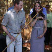 Die Royals schwitzen in der Wildnis