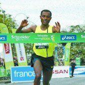 Kenenisa Bekele gab in Paris ein starkes Debüt