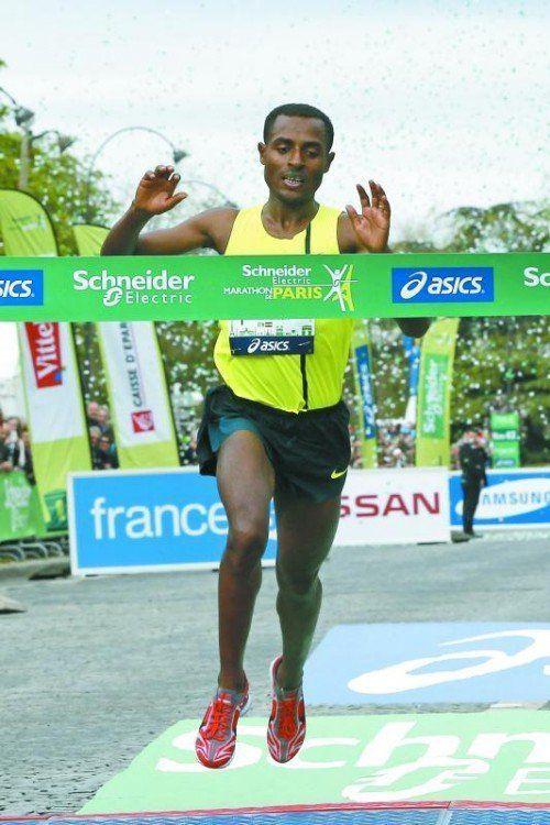 Einsamer Sieger beim Paris-Marathon: Kenenisa Bekele.  reuters