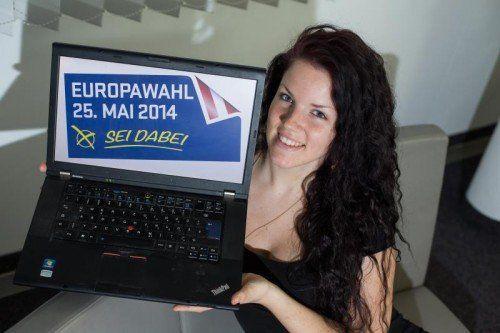 feature, wahl, eu, europa, euopawahl, jugend, wählen, laptop, anja aus dornbirn