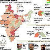Größte und längste Wahl der Welt in Indien