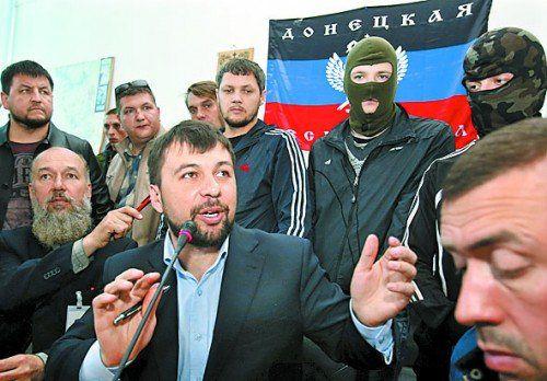 Gibt sich nicht geschlagen: Denis Puschilin in Donezk. Foto: AP