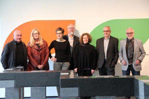 Gruppenbild ohne Meusburger mit Türtscher, Aberer, Fend, Lampert, Jansa, Pümpel und Fink.  Foto: AG