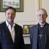 Crowe traf den Erzbischof von Canterbury
