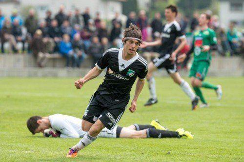 Hakan Öztürk erzielte das 2:0 für Alberschwende. Foto: VN-stiplovsek