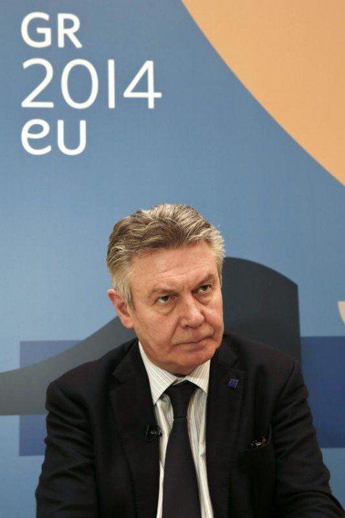 Handelskommissar De Gucht unter Druck.  FOTO: REUTERS