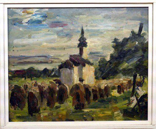 "Hans Fähnle: ""Kapelle bei Lochau"".  Foto: Voith"