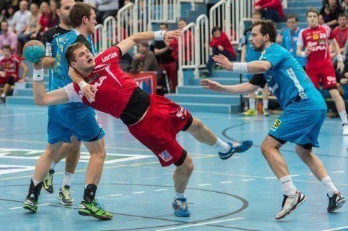 Hard-Kreisläufer Kresimir Kozina und seine Teamkollegen haben heute Linz zu Gast. Foto: vn/Stiplovsek