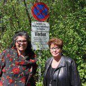 Kampf um Parkplatz am Waibelloch Hohenems