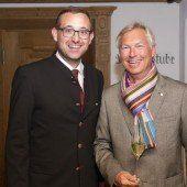 Johannes Pfefferkorn (l.) und Tourismuschef Hermann Fercher.
