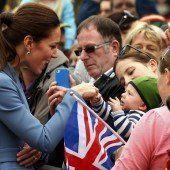 Begeisterter Empfang für William und Kate
