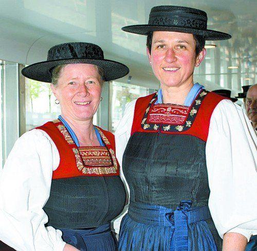 Katharina Kaufmann (l.) und Anna Meusburger (Bregenzerwald).