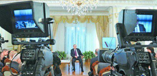 Kremlchef Wladimir Putin warnte gestern vor der kritischen Lage in der Ukraine. Auch der Gastransport in die EU sei gefährdet. Foto: EPA