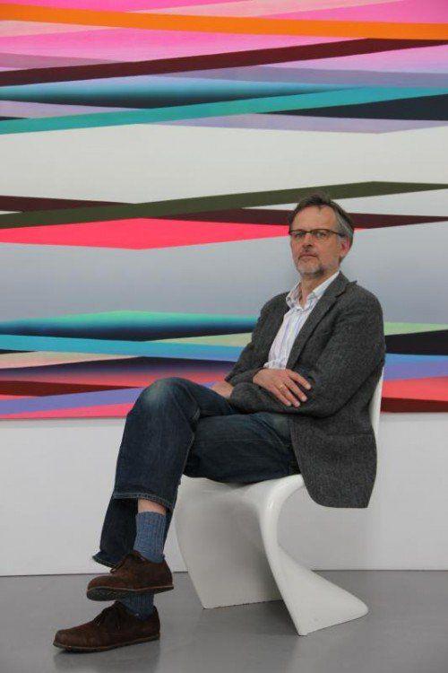 Der Freiburger Künstler Ben Hübsch überzeugt mit malerischen Mitteln.