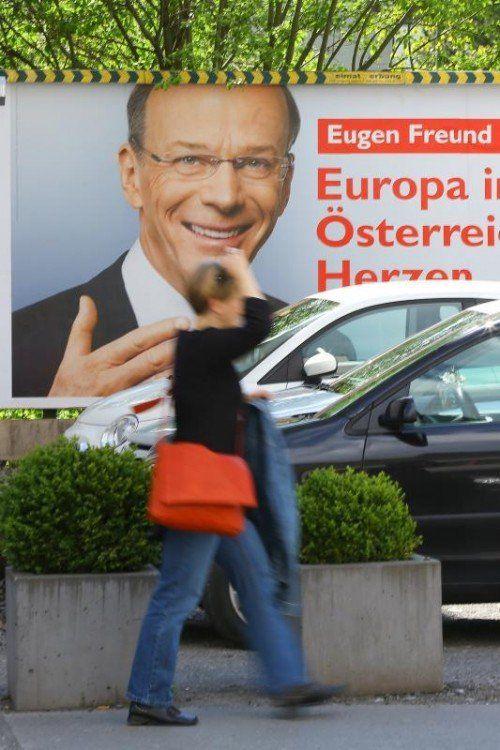 Lachte ebenso zu früh vom Plakat: SP-Kandidat Freund.  Foto: VN/BH