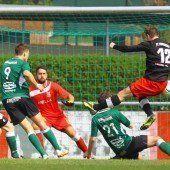 Schwarzach sichert sich mit dem 0:0 einen Punkt im Duell mit dem Nachbarn und Tabellenzweiten Dornbirner SV