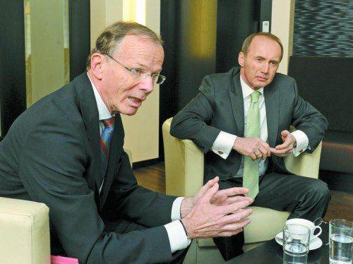 Lassen Zustimmung zum Freihandelsabkommen mit den USA offen: Eugen Freund (l.) und Othmar Karas. Fotos: Herbert Pfarrhofer
