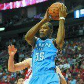 Kevin Durant auf Augenhöhe mit Jordan