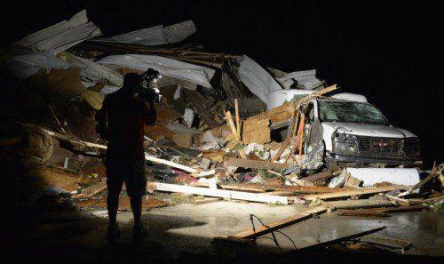 Mayflower im US-Bundesstaat Arkansas: Ein Journalist begab sich nach den Tornados auf Lokalaugenschein in den zerstörten Ort. FOTO: RTS