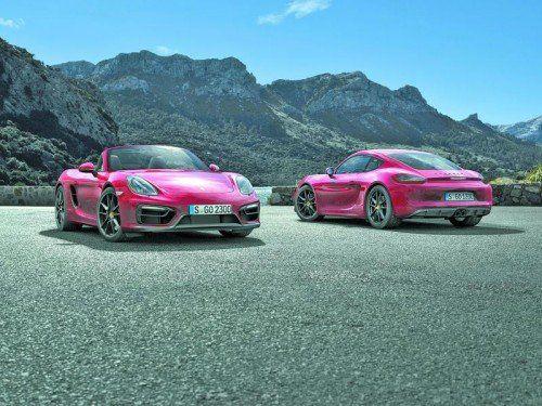 Mehr Kraft und verbesserte Fahrleistungen: Porsche legt erstmals GTS-Versionen von Cayman und Boxster auf. Foto: werk
