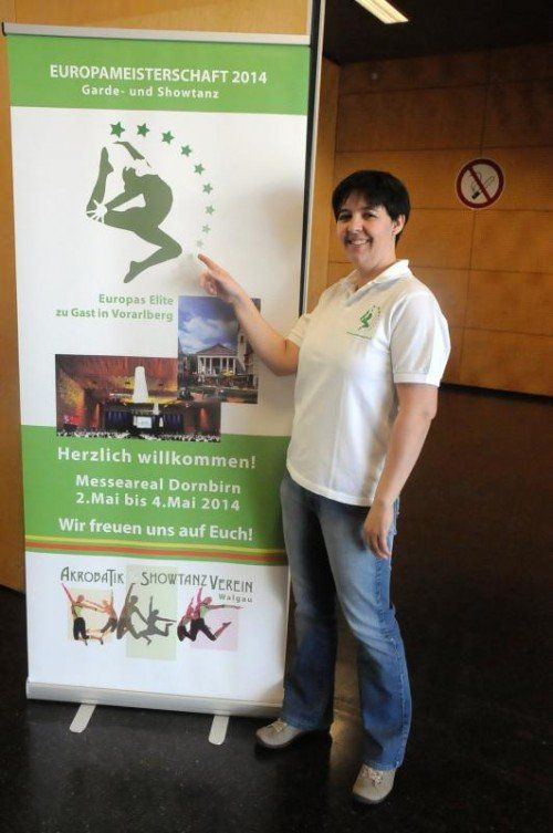 Nicole Tschabrun ist schon voller Vorfreude auf die Eurodance vom 2. bis 4. Mai in der Dornbirner Messehalle. Foto: akp