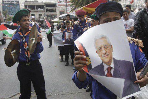 Palästinenser-Präsident verweigert den Friedensverhandlungsprozess und wendet sich mit massiven Forderungen an die UNO. Foto: reuters