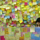 Gedenken an Sewol-Opfer mit Tausenden Post-its