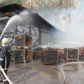 Brand in Au: Ursache war Selbstentzündung