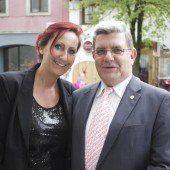 Silvia Reiner mit Erich De Gaspari (Pensionistenverband).