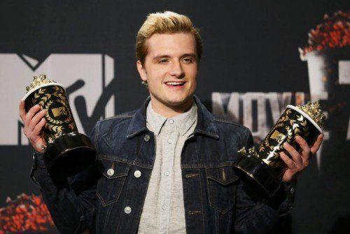 """So sieht ein strahlender Gewinner aus: Josh Hutcherson wurde für seine Hauptrolle in """"Tribute von Panem"""" ausgezeichnet. Foto: Reuters"""